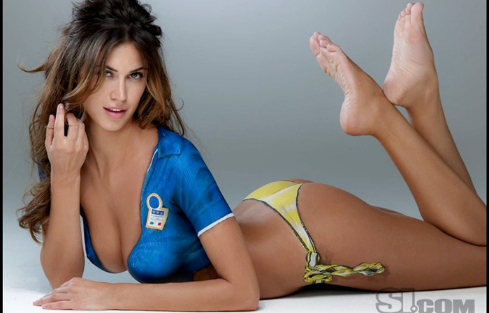 Melissa Satta: nudo artistico per Sport Illustrated